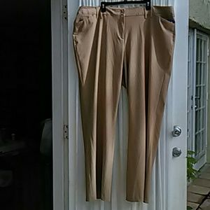 Wide Leg Tailored Beige Trousers for the Office
